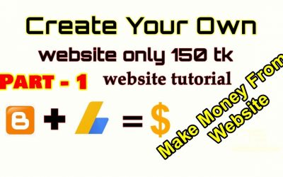 Do It Yourself – Tutorials – Make your own website and make money |  bloging tutorial bangla 2020 for Beginner