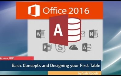 Do It Yourself – Tutorials – Microsoft Access 2016 for Beginners: Creating a Database from Scratch