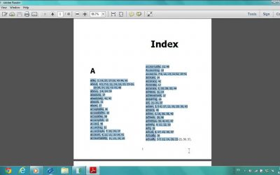 Do It Yourself – Tutorials – PDF Index Generator Software: How can i design my own book index template ?