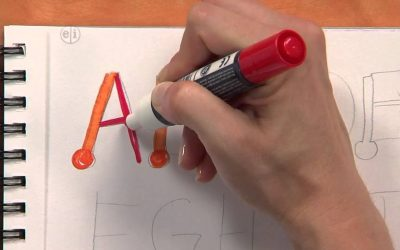 Do It Yourself – Tutorials – Simple Calligraphy Tutorial for Kids