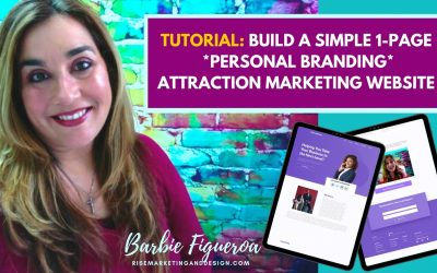 Do It Yourself – Tutorials – [TUTORIAL]  Build a SIMPLE 1-PAGE *Attraction Marketing* PERSONAL BRANDING Website from a TEMPLATE