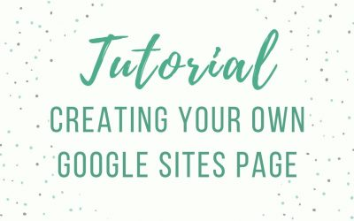Do It Yourself – Tutorials – Tutorial: Creating Your Own Google Site