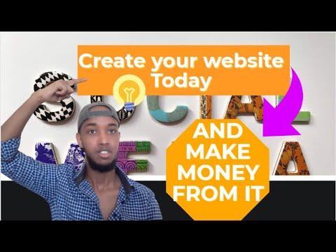 WEBSITE SIDEE LOOSAMAYSTA | HOW TO CREATE YOUR OWN WEBSITE TUTORIAL | ABDIFATAHCYRE