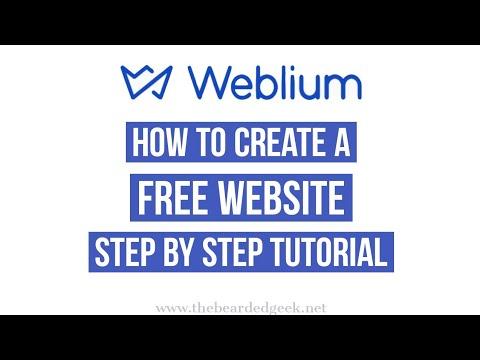 Weblium | How to create a free website step by step tutorial