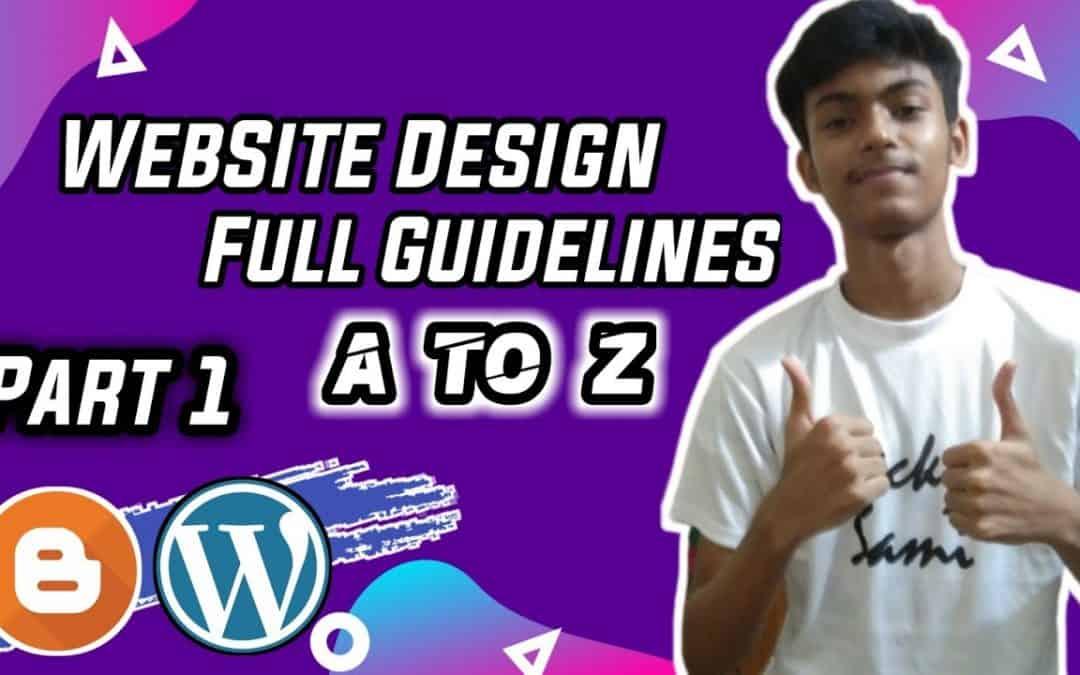 Website Design Tutorial | Web Design html | How to Make Website With Blogger | Bangla Tutorial 2020