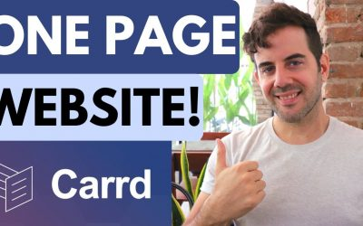 Do It Yourself – Tutorials – Carrd.co Tutorial – Create a One Page Website!