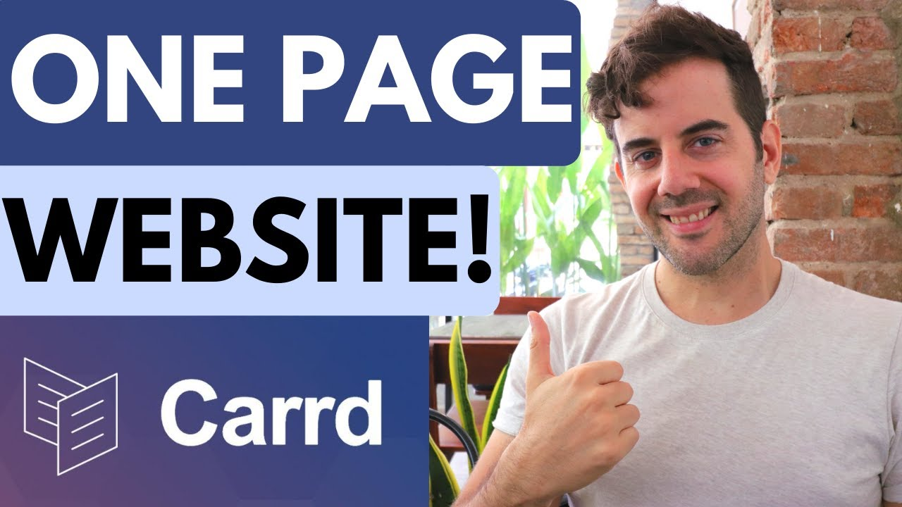 Carrd.co Tutorial - Create a One Page Website!