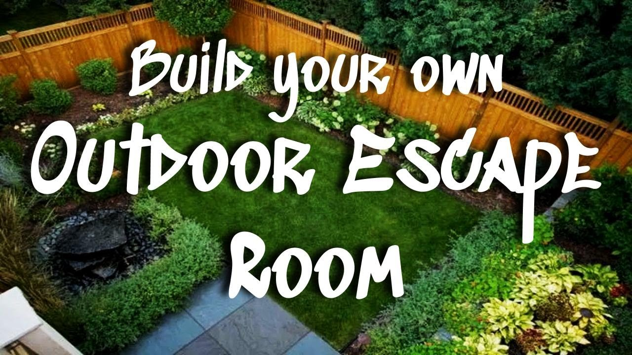 DIY *OUTDOOR* Escape Room || Step-By-Step Tutorial to Make Your Own Escape Room Outside