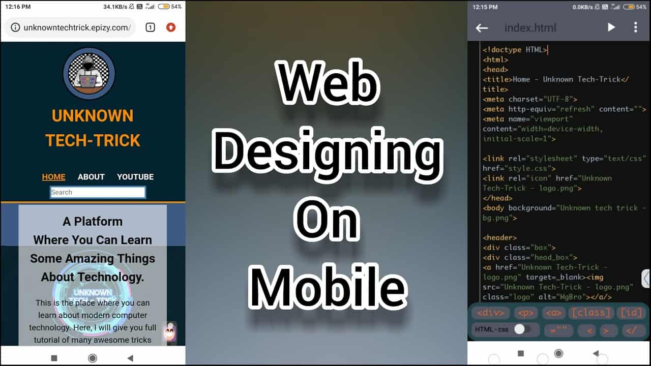 Design Create Your Own Website full tutorial in Hindi | Best HTML, CSS Editor coding App for Android