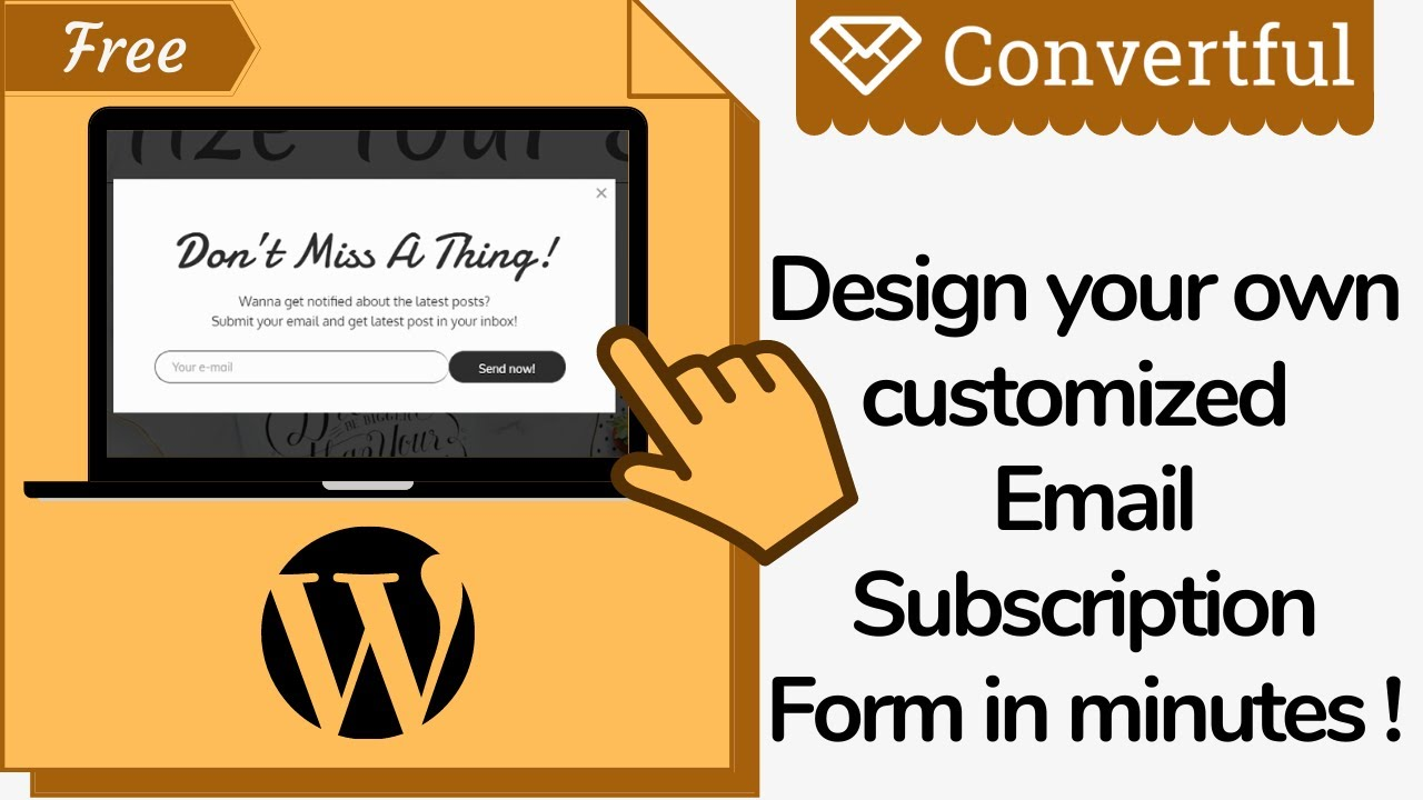 Design your own Email Subscription Form in WordPress | A-Z Blogging Series | Step by step Guide 2020