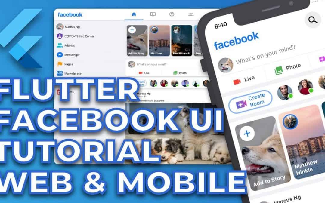 Do It Yourself – Tutorials – Flutter Facebook Responsive UI Tutorial | Web and Mobile
