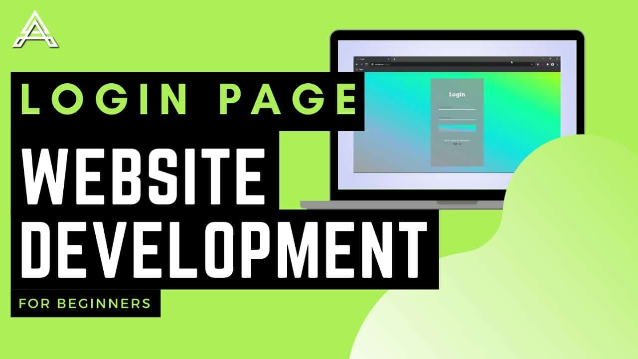 Front end web development tutorial for beginners | How to create a website? [ login page ]