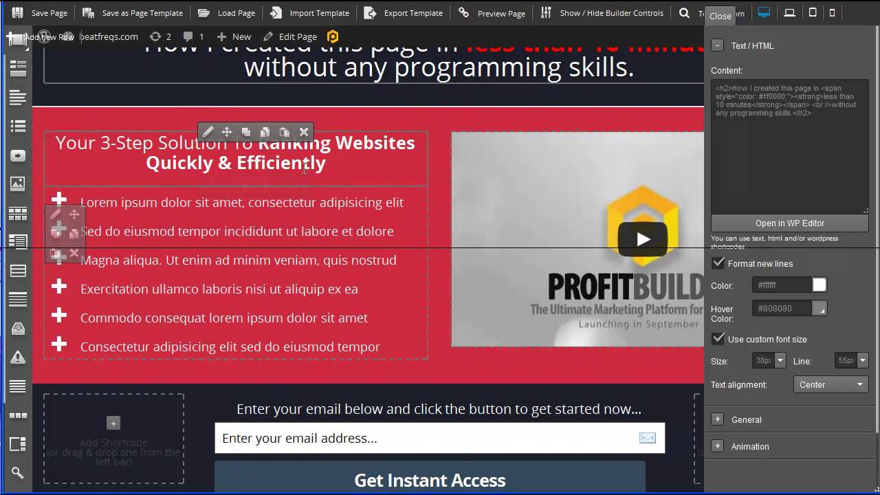 How To Make A Website With WP Profit Builder (Review & Demo)