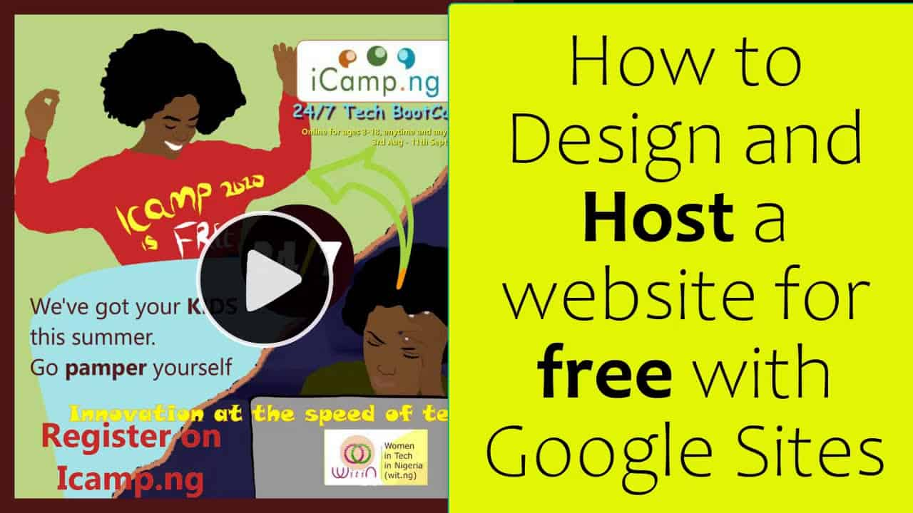 How to Design and Host a website for free with Google Sites(Full Tutorial 2020)