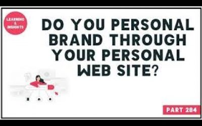 Do It Yourself – Tutorials – PART 284 | How to Create a Personal Brand through Website? | LinkedIn Tutorial & Strategies |
