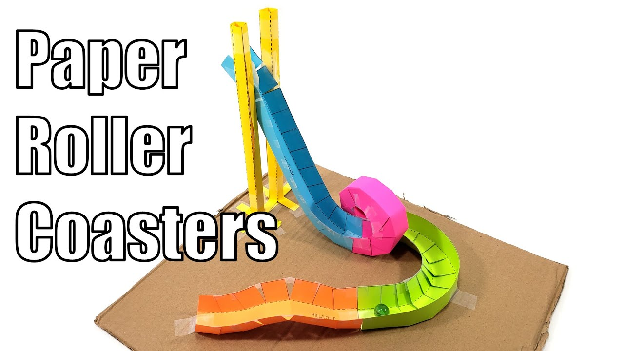Do It Yourself - Tutorials - Paper Roller Coasters - Fun ...