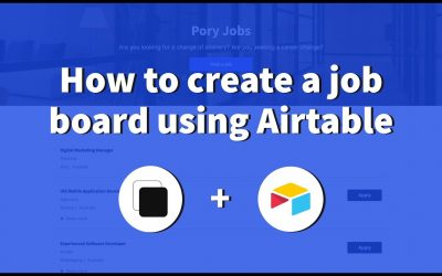 Do It Yourself – Tutorials – How to create a job board using Airtable (launch with free domain)