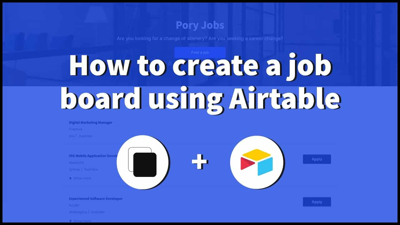 How to create a job board using Airtable (launch with free domain)