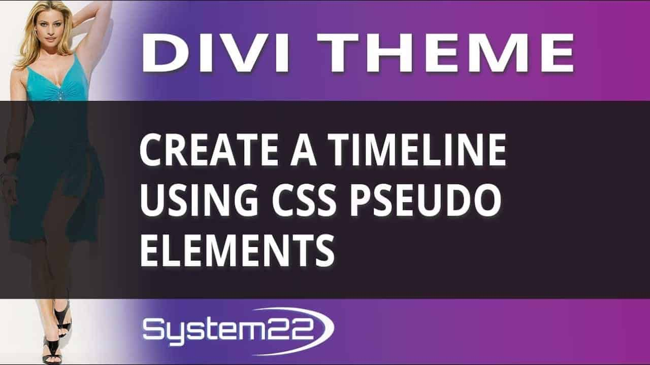 Divi Theme Create A Timeline Using CSS Pseudo Elements