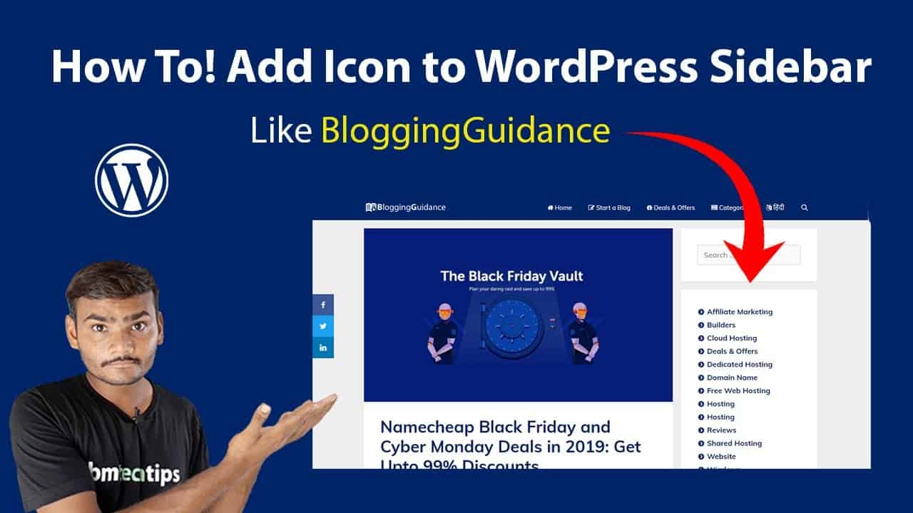 How To Add Font Awesome Icon to WordPress Sidebar Using CSS Hindi