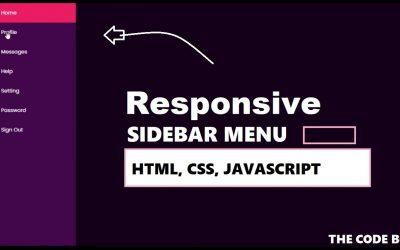How to Create Responsive Sidebar Menu Using Html CSS & Javascript   Dashboard Side Menu   TheCodeBox