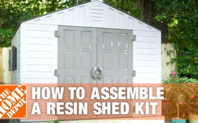 Do It Yourself – Tutorials – How to Build a Shed for Outdoor Storage Using a Resin Shed Kit | The Home Depot