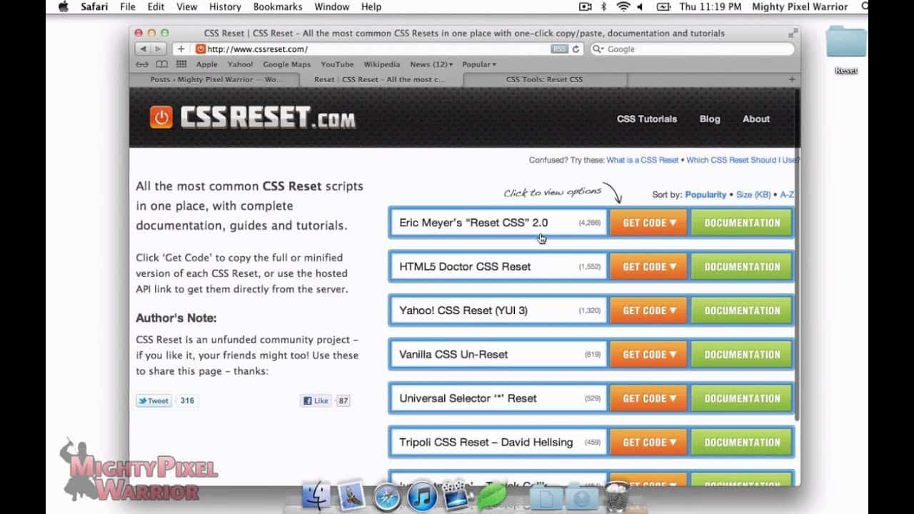 "Trick #003 - How to ""Reset your CSS"""