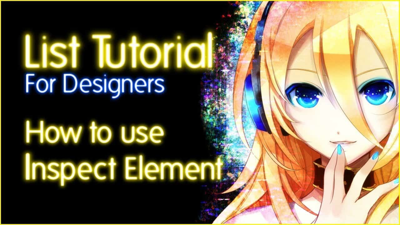 How to use Inspect Element to edit CSS (MyAnimeList tutorial)