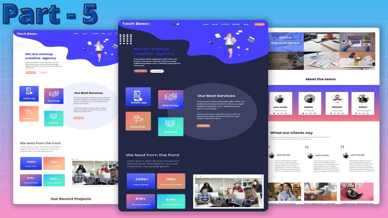 How To  Make A Complete Website Using HTML And CSS Step By Step Tutorial | Part 5