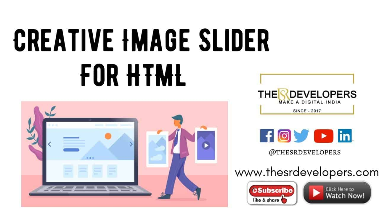 Creative Image Slider #thesrdevelopers #webdesign #webdevelopement #HTML #Slider #image #css