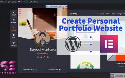 Do It Yourself – Tutorials – How to Create a PROFESSIONAL PORTFOLIO WordPress Website 2020 | Elementor | NO CODING