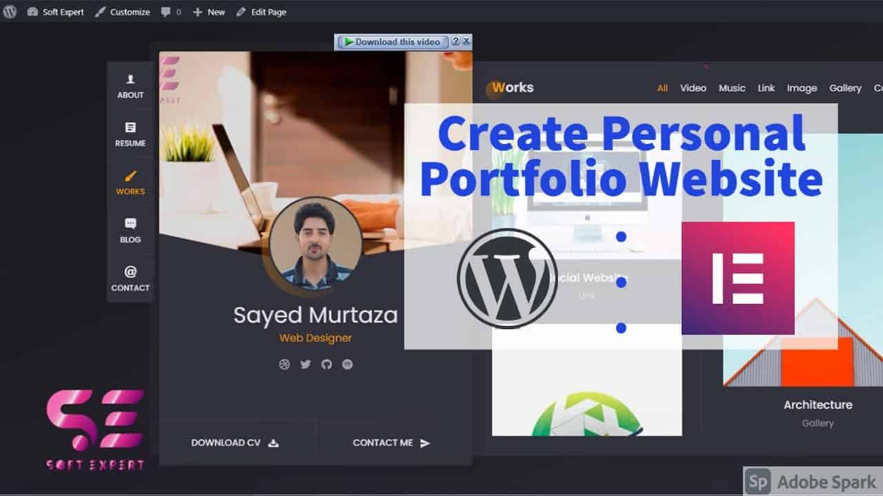 How to Create a PROFESSIONAL PORTFOLIO WordPress Website 2020 | Elementor | NO CODING
