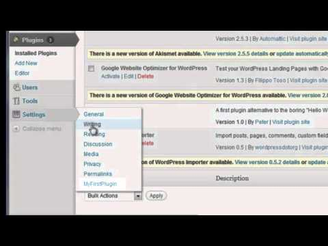 How to Create a WordPress Plugin Part1
