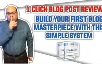 Do It Yourself – Tutorials – 1 Click Blog Post Review: Build Your First Blog Masterpiece With This Simple System