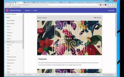Do It Yourself – Tutorials – 1. Google Material Design Front-End Frameworks Tutorial
