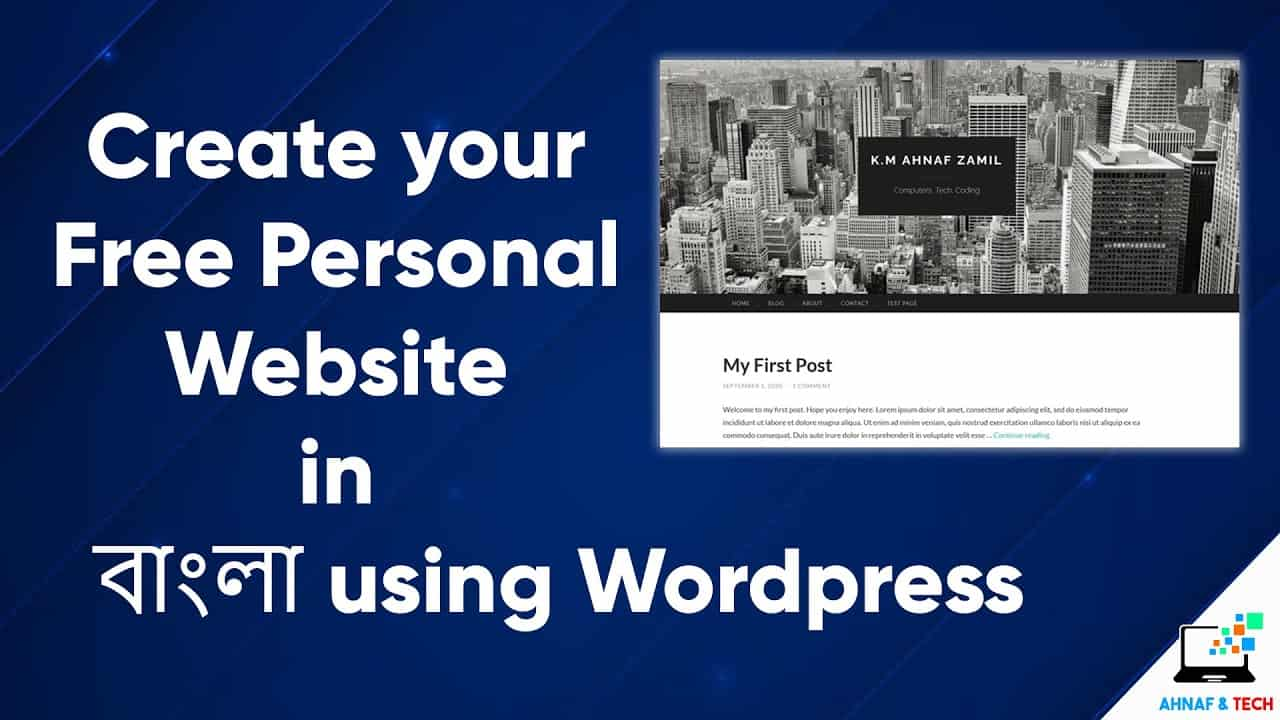 Create Your Personal Website For Free With Wordpress - Full Tutorial in Bangla