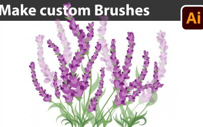Do It Yourself – Tutorials – Create your own Lavender Brushes – Adobe Illustrator Drawing