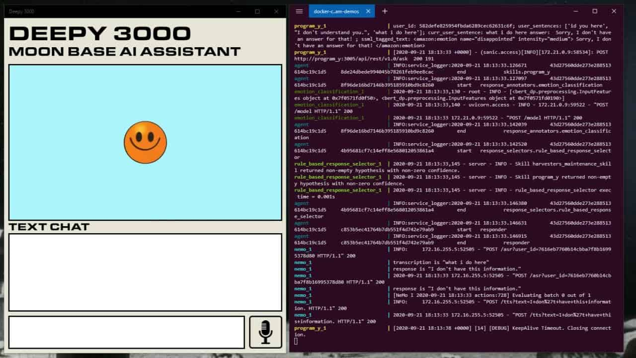 Deepy 3000 Demo: Build Your Own Moonbase A.I. Assistant with DeepPavlov Dream!