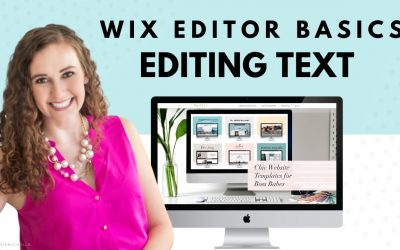 Do It Yourself – Tutorials – Editing Text in WIX | WIX Website Editor | WIX Tutorials | How to Create Your Own Website
