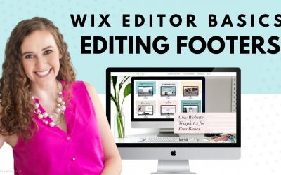 Do It Yourself – Tutorials – Editing Your Footer | WIX Website Editor | Editing a WIX Template | Design Your Own Website