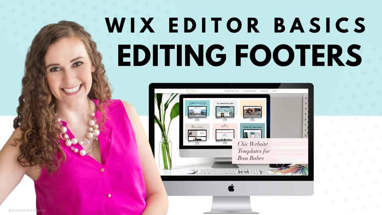Editing Your Footer | WIX Website Editor | Editing a WIX Template | Design Your Own Website