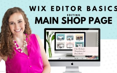 Do It Yourself – Tutorials – Editing Your Main Shop Page in WIX Stores | WIX Website Tutorial | Build Your Own Website