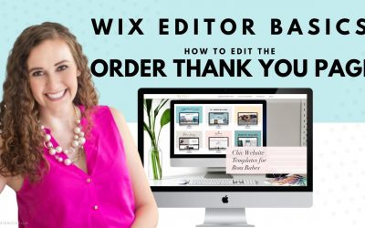Do It Yourself – Tutorials – Editing the Order Thank You Page in WIX | WIX Website Tutorials | Design Your Own Online Store