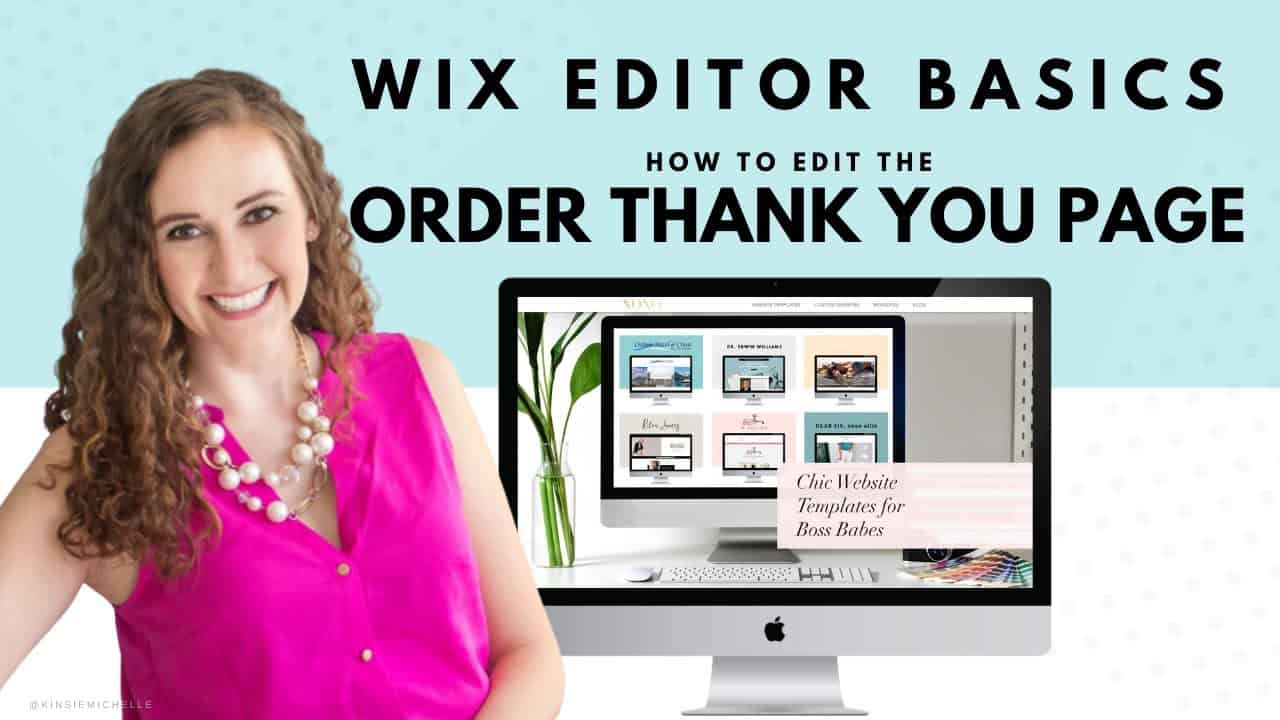 Editing the Order Thank You Page in WIX | WIX Website Tutorials | Design Your Own Online Store