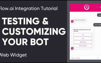 Do It Yourself – Tutorials – Flow.ai Integration Tutorial – Web Widget – Testing & Customizing Your Bot