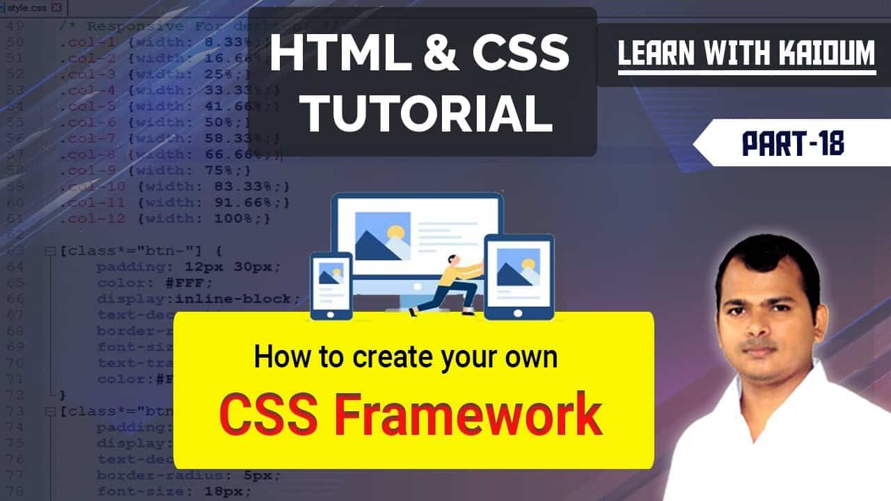 HTML and CSS Bangla Tutorial #18 | How to create your own CSS Framework