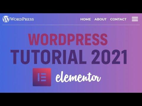 Hostgator WordPress Tutorial 2021 with Elementor | How To Build a Website 2021