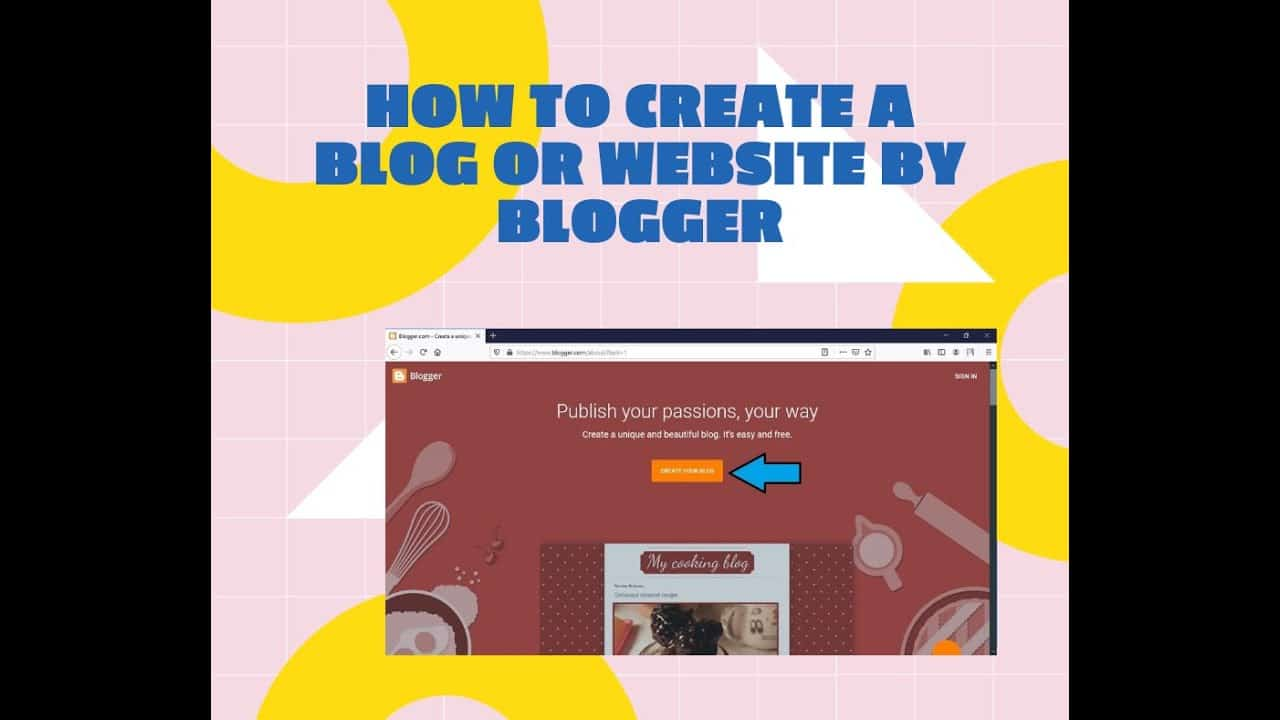 How to create a blog or website by Blogger