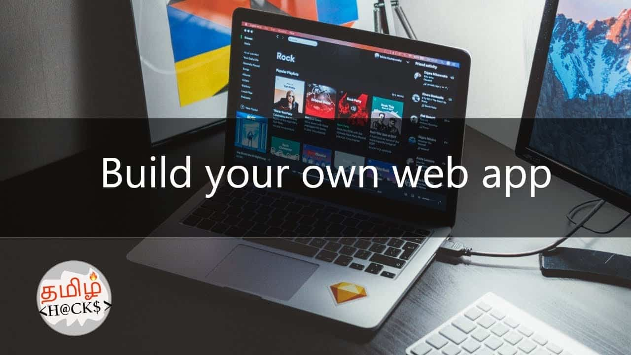 Learn to build your own web app in 10 minutes | complete guide and tutorial | tamil hacks