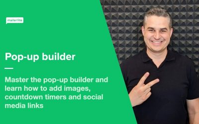 Do It Yourself – Tutorials – Pop-up builder – How to create and design your own pop-up forms using MailerLite
